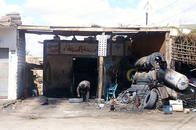 Oasis Bahariya - the local garage