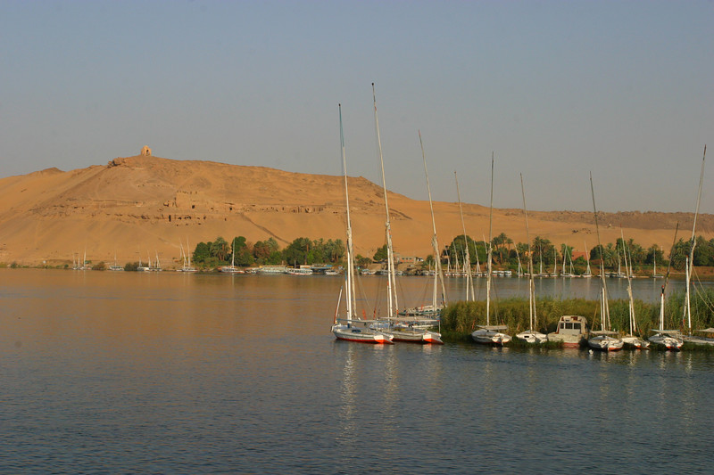 The view from the boat in Aswan.