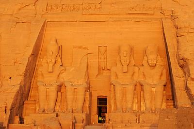 Abu Simbel temple at sunrise