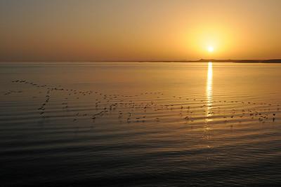 Sunrise at Lake Nasser in Abu Simbel