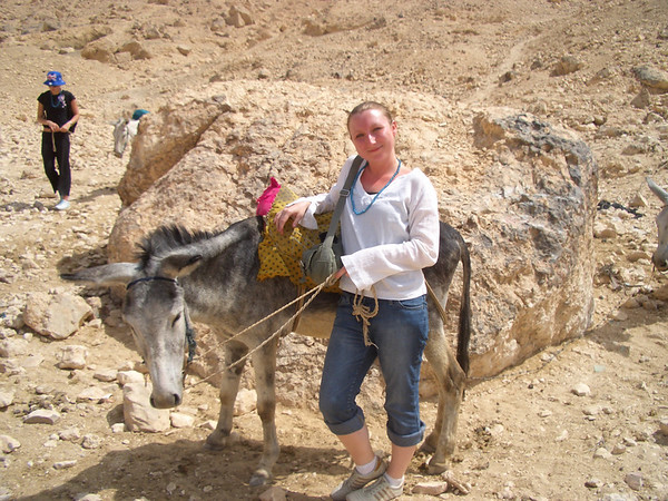 Wendy and her donkey, Valley of the Kings, Luxor