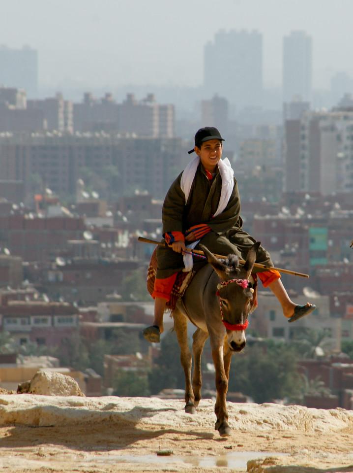 Boy on Donkey, Giza