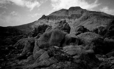 Boulders against the sky
