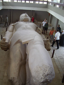 Ramses II unfinished statue.