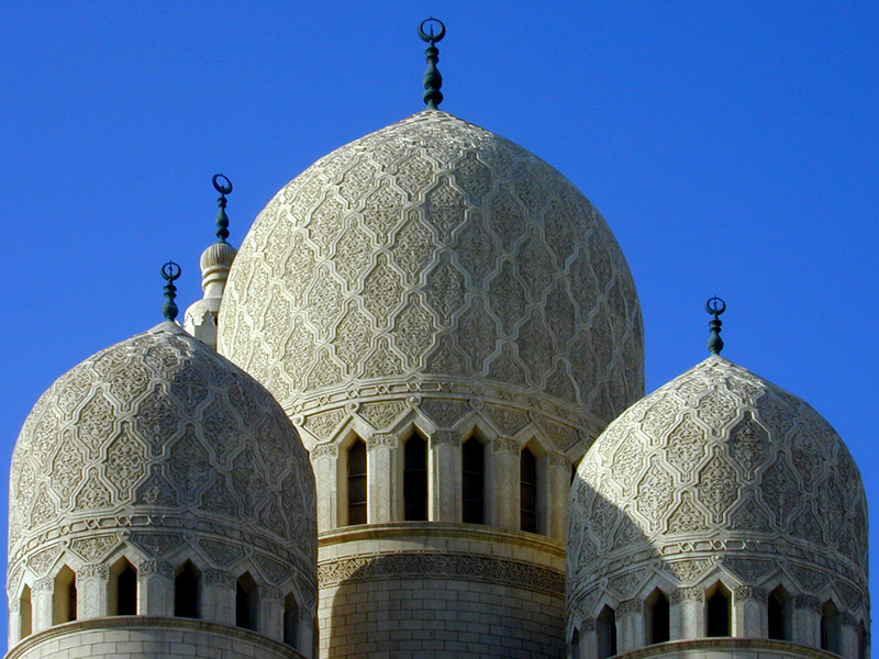 Domes of the Mosque of Abu Al Abbas Al Mursi, Alexandria.