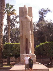 Ramses II statue. (in Memphis the first capital of Egypt)
