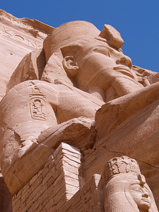 April 1, 2011. Egypt. Abu Simbel. Temple of Rameses II. Constructed 1250 BC.