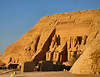 Abu Simbel temple at sunrise.