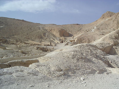 Valley of the Queens, or as we were told, the wives and children of the Kings.  If they were Queens they were actually buried in the Valley of the Kings (Pharoahs)