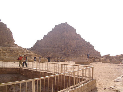 Pyramid where the wife and daughters of the Kings were buried.