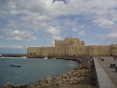 The Citadel in Alexandria, built on the site of the Ancient Lighthouse, one of the 7 Ancient Wonder´s of the World.