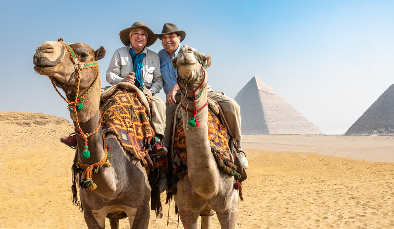 And what would a trip to Egypt be without a camel ride out by the pyramids of Giza? Hey, we just had to play tourist for a day!