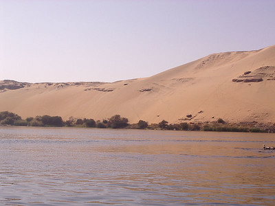 The desert along the banks of the Nile.