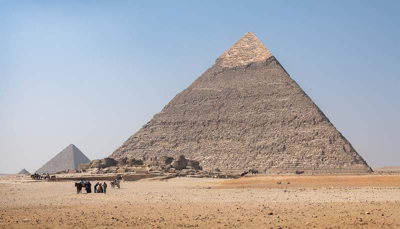 The pyramids of Giza Egypt are massive. These Pyramids, built to endure an eternity, have done just that. The monumental tombs are relics of Egypt's Old Kingdom era and were constructed some 4,500 years ago.