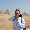 PY in front of the Giza pyramid complex (Pyramids of Khufu, Khafre & Menkaure).