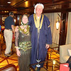 Egyptian dress-up party on board boat
