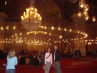 Inside the Mosque of Mohammed Ali.