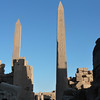 Karnak Temple, Luxor.    It also has one of the largest obelisks weighing 328 tonnes and standing 29 meters tall.