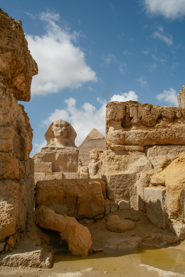 View of Sphinx and Pyramid
