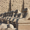 Avenue of the Ram-head Sphinxes at the Karnak Temple complex.