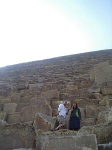 Caleb and Tanya climbing the Pyramid.