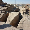 """Obelisks were sometimes put in front of temples, where they acted as """"antennas"""", drawing cosmic energy down to Earth.  One of the really ambitious ones (137 ft high, 1200 tons), which was however never finished because of a fatal crack, is the unfinished obelisk at the ancient granite quarry at Aswan."""
