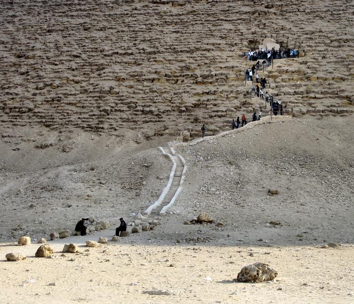 Visitors entering the Red Pyramid, Dahshur.