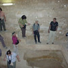 Inside one of the pyramids.