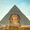 The Sphinx in Cairo, Egypt.  This is a handheld HDR of 3 images 1 EV apart.