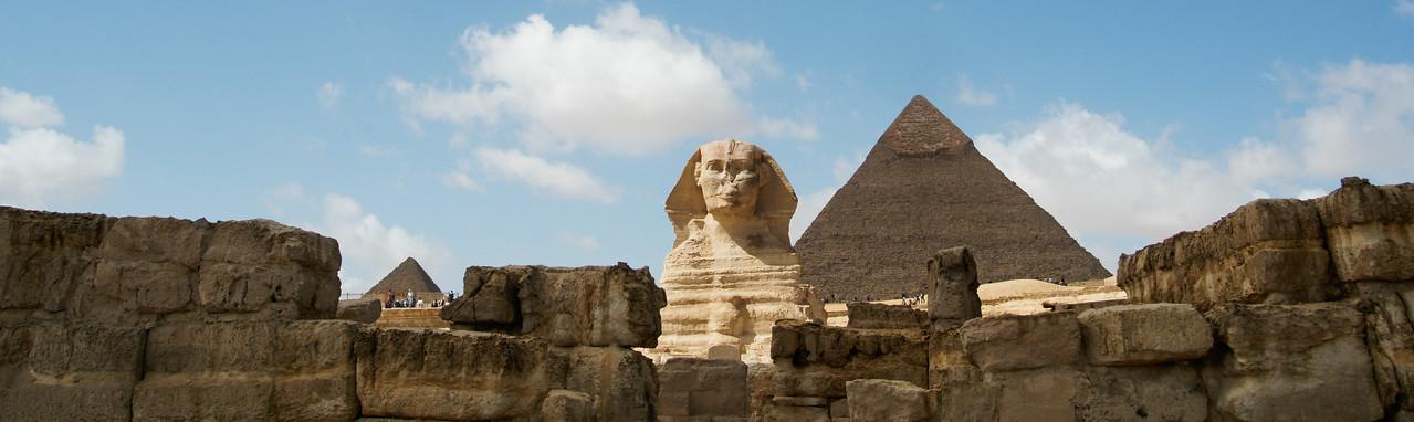 Sphinx and Pyramids Panorama