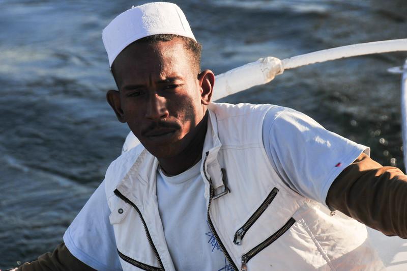 Felucca Sailor - Aswan, Egypt