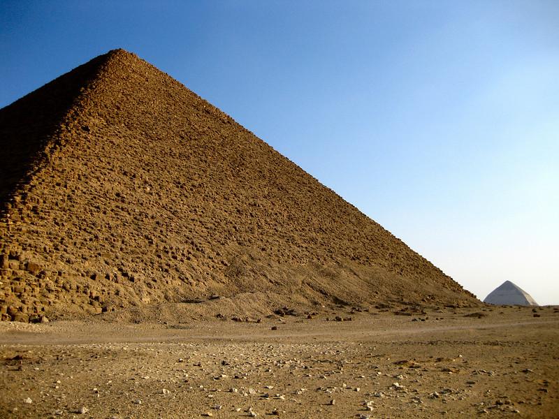Red Pyramid and Bent Pyramid, Dahshur.