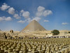 Great Sphinx and Great Pyramid (or Pyramid of Cheops).