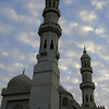 Minarets of the Mosque of Abu Al Abbas Al Mursi, Anfushi, Alexandria.