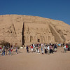 Twin Temples in Abu Simbel were built  3,300 yrs ago, as a lasting monument to Remesis II and his queen Nefertari, & to intimidate his Nubian neighbors. <br /> Relocated to higher ground in the 1960s,  above the Aswan High Dam reservoir water level.