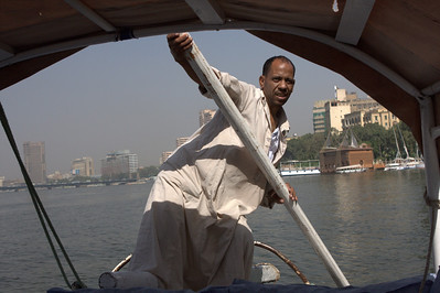 our boat captain that gave us a short ride down the Nile river.