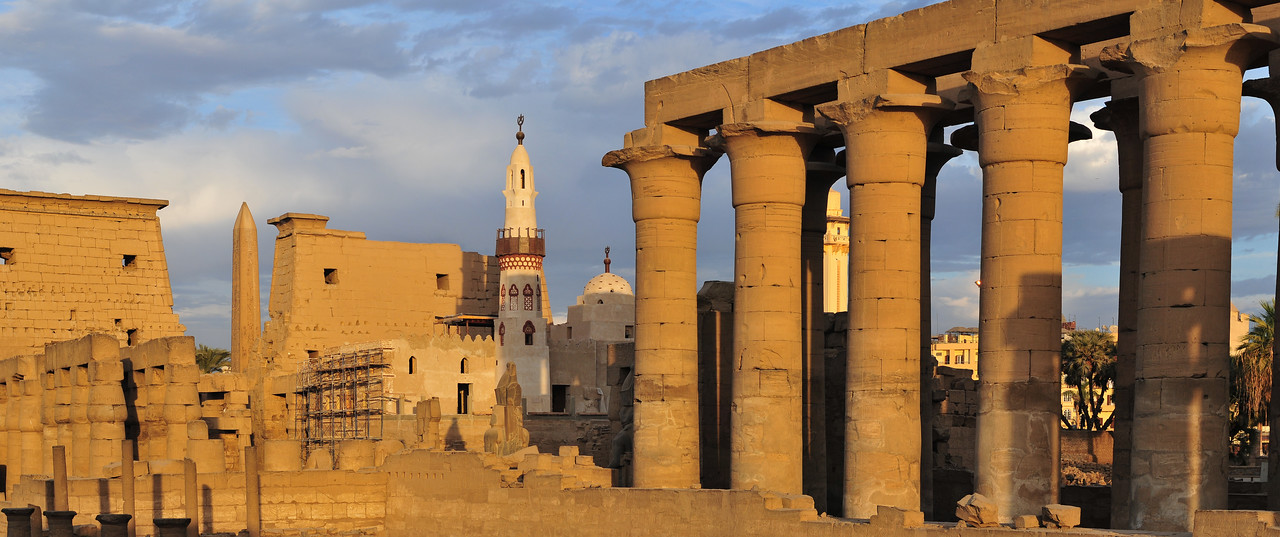 Temple of Luxor, Egypt at Sunset