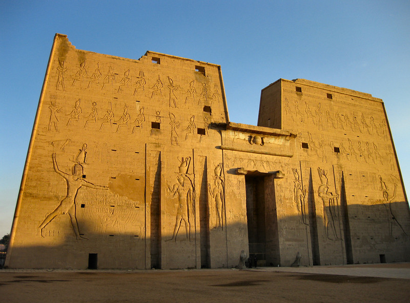 Temple of Edfu at sunrise