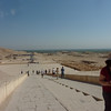Viewed from front of the  Hatshepsut Temple.