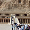 Impressive funerary Temple of Queen Hatshepsut, near the Valley of the Kings,  Hatshepsut was one of the most successful pharaohs. She ruled the country for over 21 yrs.