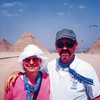Darlene & Clay at the pyramids, Cairo, Egypt