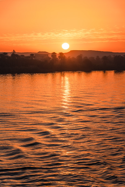 Sunrise along the Nile was always a serene event. We were usually the only people out on the top deck taking in all the majesty of these quiet moments as the first light of day filtered across the water. Memories I will always cherish.