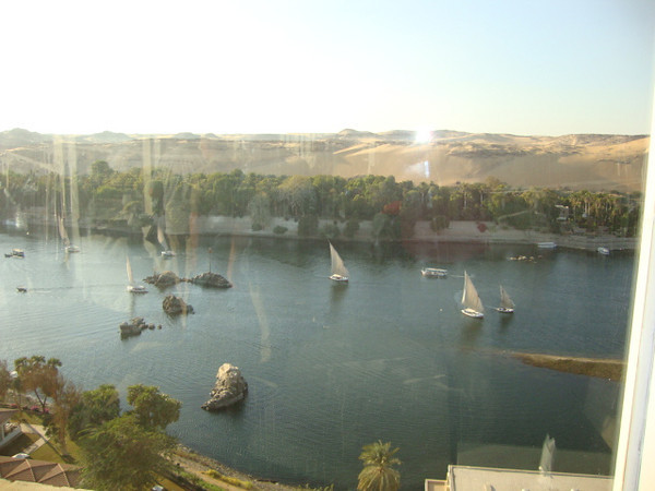 Aswan from top of Movenpick hotel