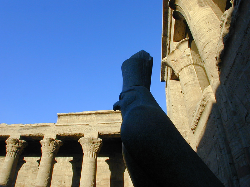 Dawn at the Temple of Horus at Edfu.