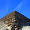 The Red Pyramid at Dashur. Built by the Pharaoh Snofru, father of Khufu, it is the world's first true smooth-sided pyramid. It's also the third largest pyramid in Egypt. Note the tiny black dot part way up on the right hand side; that's a person.