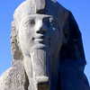 Face of the alabaster sphinx at Memphis, near Saqqara.