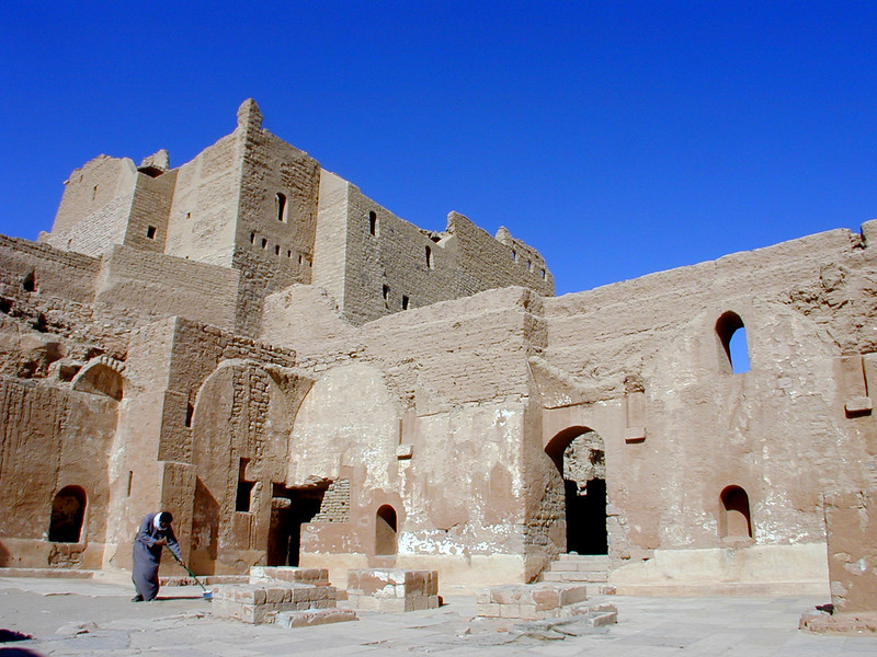Ruins of the Monastery of Saint Simeon on the west bank of the Nile at Aswan.