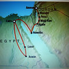 Cairo to Aswan, and Luxor to Cairo are by overnight trains.  Abu Simbel is south of Aswan, not far from Sudan.
