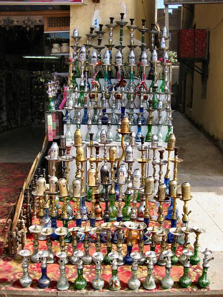 Shisha pipes, Bazaar, Aswan.