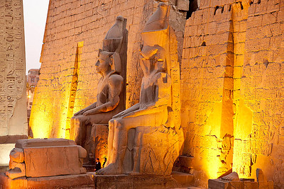 At the Entrance to Luxor Temple